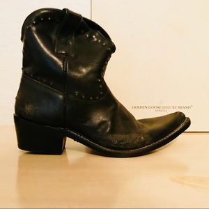 Golden Goose Shoes - GOLDEN GOOSE NWB ANTIQUE BLACK ANKLE BOOTS STUDS 8